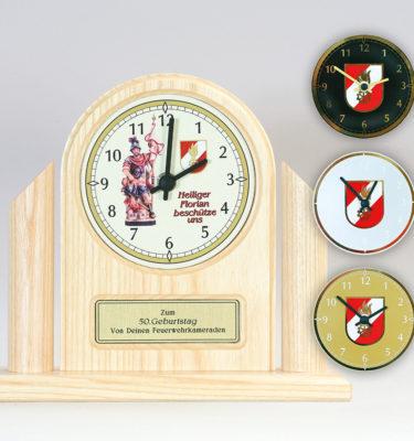 Uhr Feuerwehrgeschenk Drechslerei Wascher